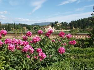 Vue sur la Toscane environnante au sommet des jardins de Boboli