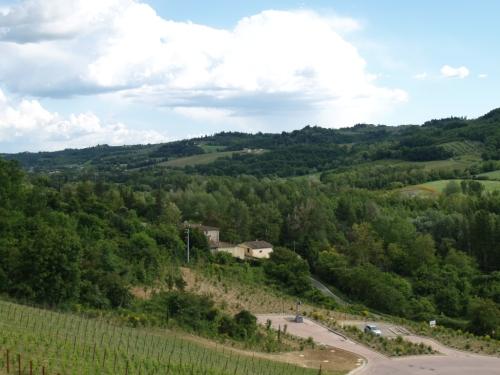 Paysage de la Toscane, comté de Florence, en Italie