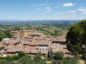 Vue de la ville fortifiée de San Gimignano
