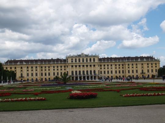 La devanture du château de Schönbrunn