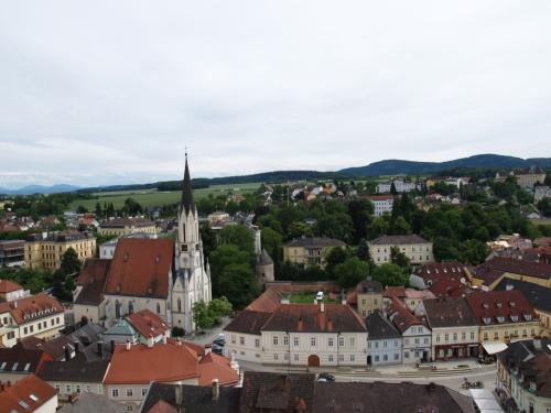 Vue du haut du monastère de Melk